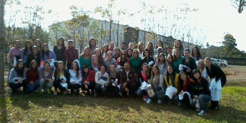 Visita dos alunos de Nutrição da UNIFRA (24/06)